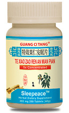 3 Bottles Te Xiao Zao Ren an Mian Pian Sleepeace Natural Herbal Sleep, 200 each