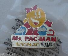 Videogioco ATARI LYNX MS PAC-MAN Rare Vintage Smalto Metallo pin badge pin Pacman
