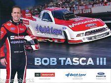 "2014 BOB TASCA III ""MOTORCRAFT"" NHRA FUNNY CAR HANDOUT/POSTCARD"