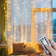 3Mx3M LED Curtain Fairy String Lights In/Outdoor Controller Window Wedding Decor
