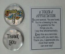 zzbb Dragonfly thank you A Token Of Appreciation Pocket charm Ganz gratitude