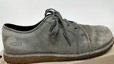 """Womens 7.5 KEEN Gray Suede Comfy Laced Trail Chore Shoes """"CUTE"""