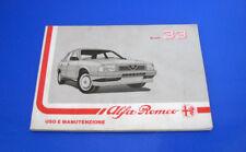 Alfa Romeo 33 1.3 1.3S - 1.5TI - 1.7QV - 1.54x4 Libretto Uso e Manutenzione 1988