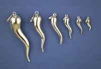 Horn Italian Sterling Silver Pendant 925