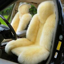 Genuine Sheepskin Fur Car Front Rear Seat Cover Winter Universal 4 in 1 Set M12Y