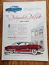 1953 DeSoto FireDome Coupe & Sedan Ad  Distinguished