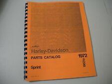 Harley-Davidson Aermacchi 1961 to 1974 Sprint Parts Manual-New