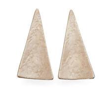 Gold Triangle Enamel Stud Earrings