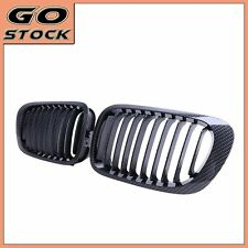 Carbon Fiber Grills Front Kidney Grilles For 98-02 2-Door BMW 3-Series E46 Coupe