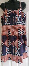 Ladies sleeveless multicoloured summer dress size 12/14 (see description)
