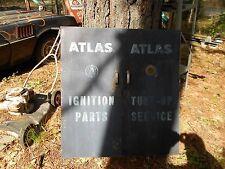 Antique Vintage Atlas Ignition Tuneup Parts Service Station Box Automobilia