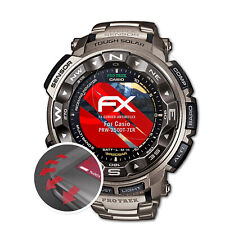atFoliX 3x Antichoque Película Protectora para Casio PRW-2500T-7ER mate&flexibel