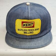 Vintage KENT FEEDS Snapback Trucker Hat Patch Cap K Products USA