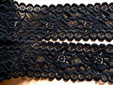 1m elastische Spitze in schwarz - ESP-1764