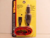 WILSON 6' - 3 PIN, 14 GAUGE POWER CORD WITH 15 AMP FUSED CIGARETTE PLUG FOR CBs