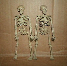 "Two 1/12 Scale Human Skeleton Figures Plastic Halloween Decor 6"" Skull & Bones"