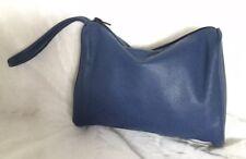 Blue GENUINE LEATHER Wristlet/Clutch Bag / Handbag