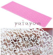 Sugar Craft Lace Silicone Mold Fondant Mat Mould Cake Decorating Baking Tool PAT