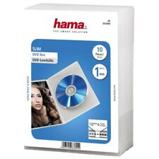 Hama Slim DVD Blu-Ray Blu ray Blue Ray Jewel Case, pack of 10, transparent