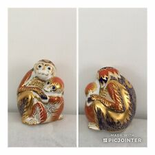 Royal Crown Derby Monkey and Baby  1st Quality Gold Stopper