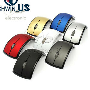 2.4GHz Foldable Arc Wireless Optical Mouse Mice+USB Receiver For PC L3US
