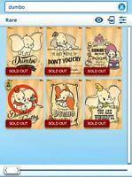 Topps Disney Collect - My Favorite Dumbo posters Rare set with award DIGITAL