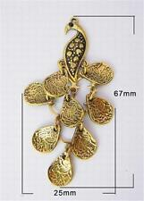 CIONDOLO-CASSONI PAVONE-Oro Antico Finish - 67mm............... P1067 *