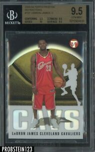 2003-04 Topps Pristine Refractor #101 LeBron James RC Rookie /1999 BGS 9.5 w/ 10