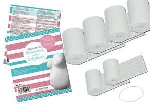 Gips Abdruck Set für stabilen Gipsabdruck Babybauch BABY BAUCH Gipsbauch 6 Gipsb