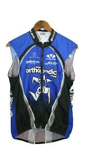 Voler Men's Blue Full Zip Cycling Jersey Size S Team Orthopedic Race Raglan