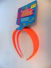 Neon Orange Headband 60's Go Go Halloween Costume Hippie Accessory Party