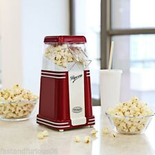 Mini Popper Corn Hot Air Popcorn Maker Cart Popper Machine Kitchen Appliance UK