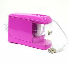 Pink Automatic Electric Battery / USB Operated Desktop Pencil Sharpener CL-9009