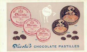 1920-30, ADVERTISING VINTAGE DROSTE'S CHOCOLATE PASTILLES