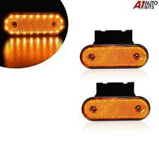 2x 12v Led Oval Clearance Amber Orange Side Marker Lights Position For Cab Truck