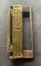Altes SCHLOß AUS CHINA, Tibet, Eisen, Bronze antik India (A435) 中国老