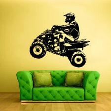 Wall Vinyl Sticker Bedroom Decal Quad Chopper Moto Motorcycle ATV (Z2319)