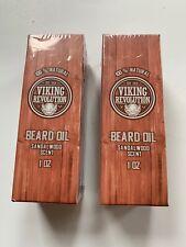Viking Revolution Beard Oil Lot Of 2 100% Natural Sandalwood Scent