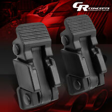 LEFT+RIGHT HOOD CATCH HOLD DOWN LATCH PAIR+BRACKETS FOR 97-06 JEEP WRANGLER TJ