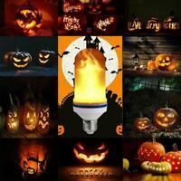 4Modes LED Flicker Flame Light Bulb Simulated Burning E27 Fire Decor Lamp G0D1