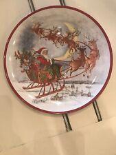 NEW Pottery Barn Kids Christmas Plate Melamine Santa Reindeer