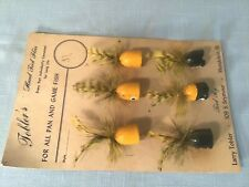 "6 Tobler's 3"" Hand Tied Fly Lures Unused with Store Card"