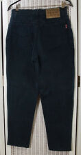 HIS Dark Blue Dyed Denim Henry I. Siegel 5-Pocket Women's Zip Fly Jeans 29W 27L