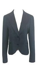 THEORY Blazer Jacket Womens Virgin Wool Pinstripe Sz 0 Branden Marine Blue 102K