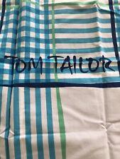 Tom Tailor Wende Bettwäsche Blau Weiß 100% Baumwolle dünn Reißverschluss wie neu