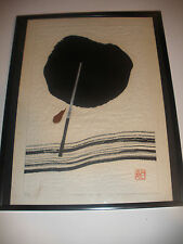 Listed artist Haku Maki Japanese Woodblock pencil signed 73-34