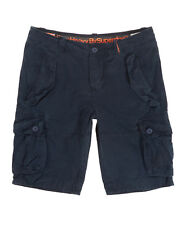 """Superdry Small Waist 30"""" Airforce Blue Cargo Core Heavy Shorts"""