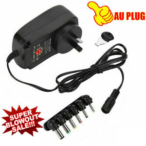 Universal Adapter Multi-Voltage Regulated Switch Replacement Power Supply Plug