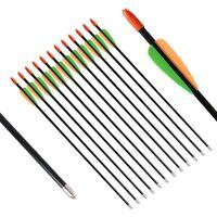 Fiberglass Hunting Arrows 28 inch Kids Archery Arrows Youth Recurve Compound Bow