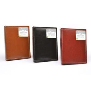 """Leather Look 36 Pockets - 4""""x6"""" / 10x15 cm Slip-in Photo Album Assorted Colours"""